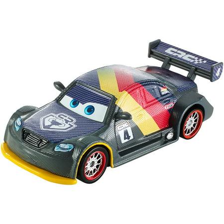 Disney/Pixar Cars Carbon Fiber Diecast Vehicle, Max Schnell, Disney Pixar Cars themed vehicle from Germany's challenging Nurburgring race By Mattel