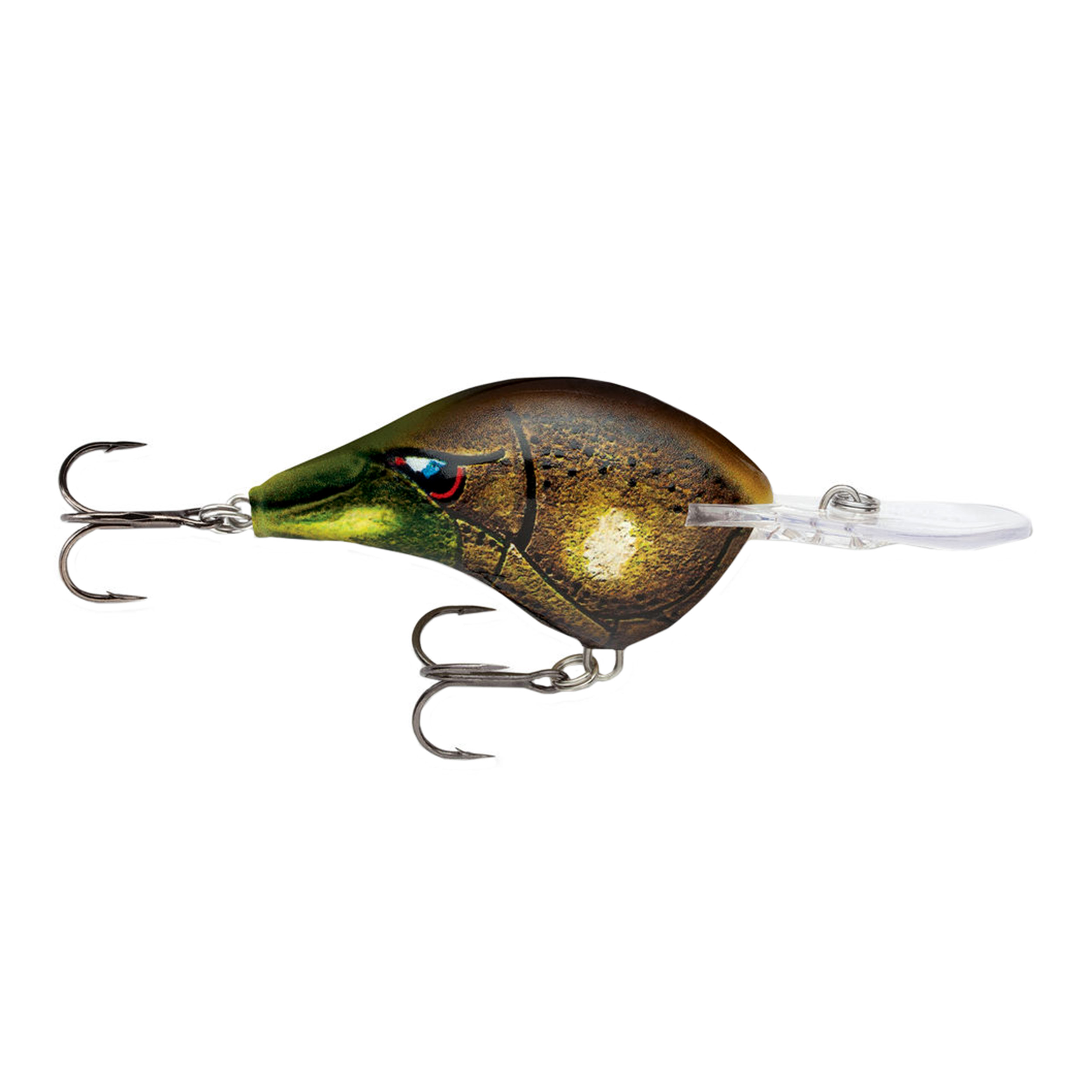 "Rapala Dives-To Series Custom Ink Lure Size 06, 2"" Length, 6' Depth, 2 Number 5 Treble Hooks, Mossy, Per 1 by Rapala"