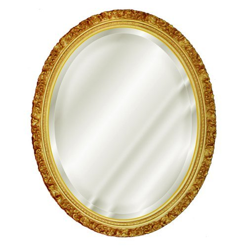 Hickory Manor House Baroque Oval Mirror - 18W x 22H in.