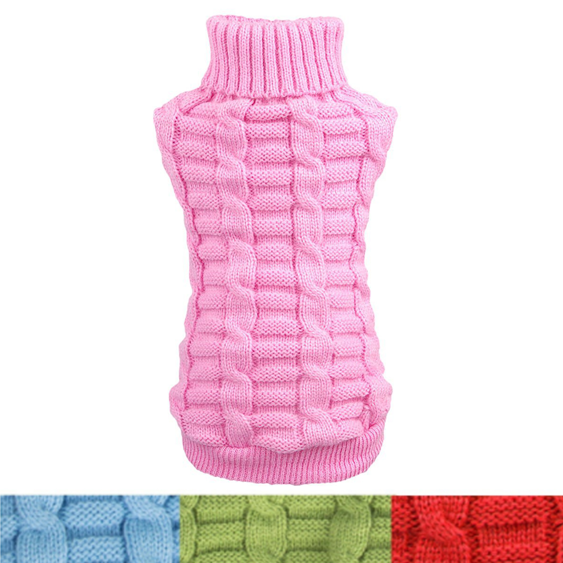Pet Dog Cat Warm Coat Knit Sweater Winter Clothes Apparel for Small Puppy