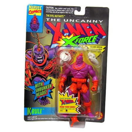 Toy Biz Marvel X-Men X-Force Krule Action Figure 5 Inches, Includes: Krule action figure, 2 shrunken heads, and trading card. By X Men](Shrunken Heads For Sale)