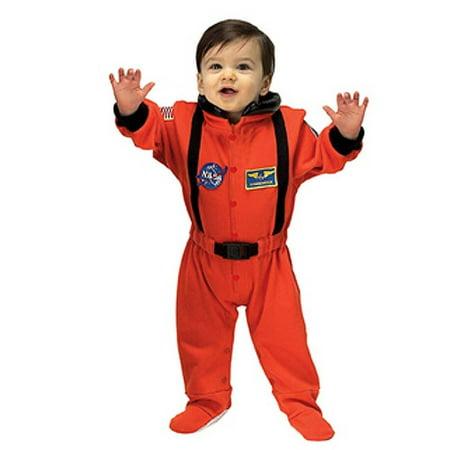 Aeromax Orange Astronaut Romper Halloween Costume Newborn Boys 6-12M