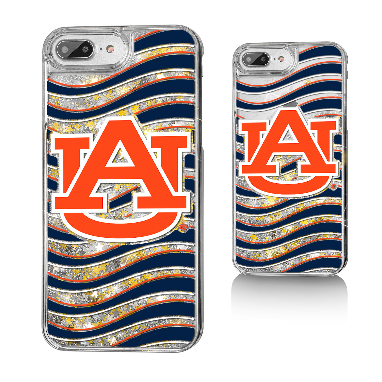 AU Auburn Tigers Wave Glitter Case for iPhone 8 Plus / 7 Plus / 6 Plus