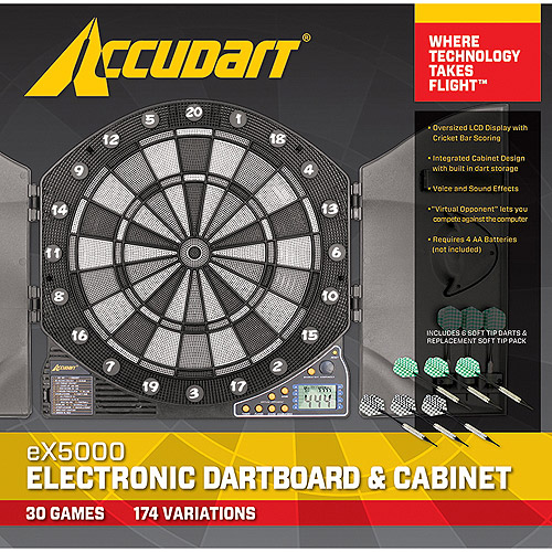 Accudart Electronic Dartboard with 24 Games with LCD Display and Backlighting by Escalade Sports