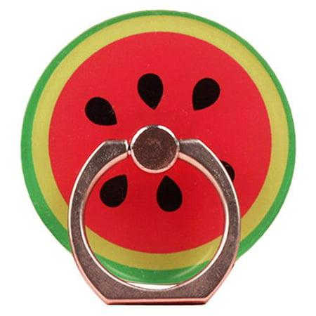 KABOER 2 PCS 2019 New Fashion Cartoon Fruit Phone Ring Buckle Bracket Paste Acrylic Ring