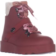 Womens Coach Urban Hiker Wedge Laceless Ankle Boots, Red