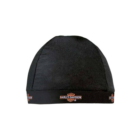 Skull Cap, Repeated Long Bar & Shield Logo, Black HC31230, Harley (Patagonia Fitz Roy P Label Logo Hat)
