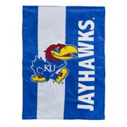 Team Sports America University of Kansas Outdoor Safe Double-Sided Embroidered Logo Applique Garden Flag, 12.5 x 18 inch