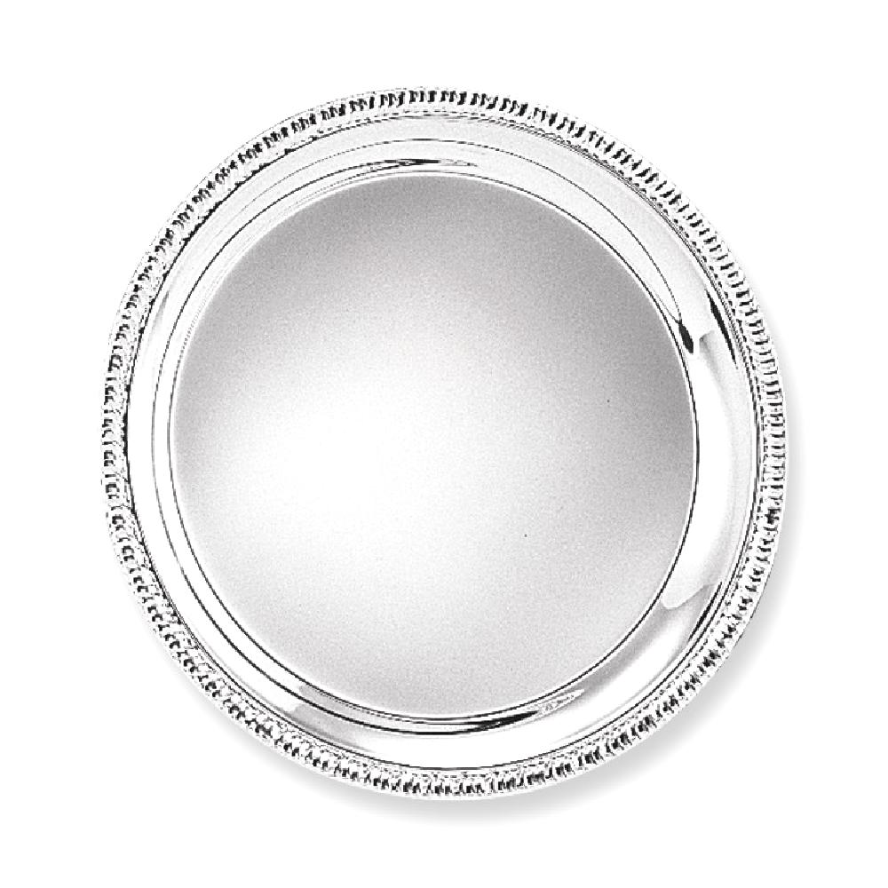 IceCarats IceCarats Silver Plated 10 Round Edge Tray  Hostes Household Entertaining Serving Set Plate Bowl Item
