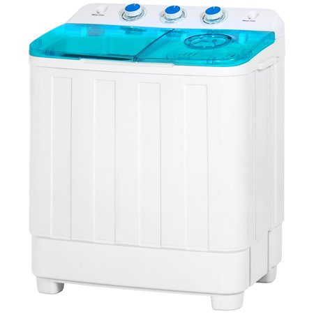 Best Choice Products Portable Mini Twin Tub Compact Washing Machine w/ Spin Dry Cycle, 18lb Load Capacity