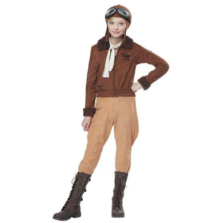 Amelia Earhart Child Costume (Teacher Costume Ideas For Kids)