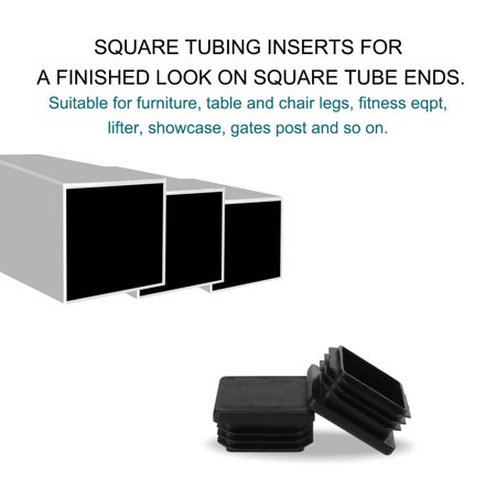 """Square Tube Insert Furniture Floor Protector for 1.38"""" to 1.46"""" Inner Size 24pcs - image 6 of 7"""