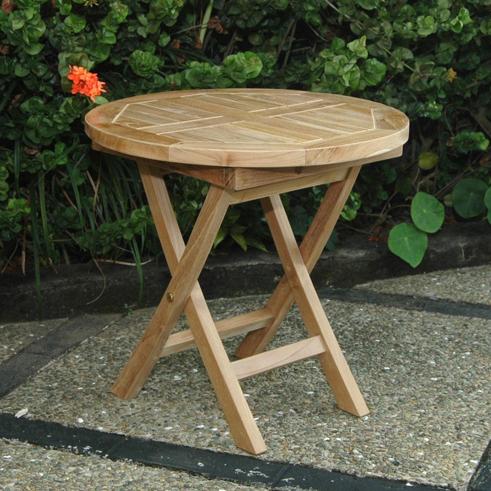 Anderson Teak Bahama Folding Mini Outdoor Side Table by Anderson Teak