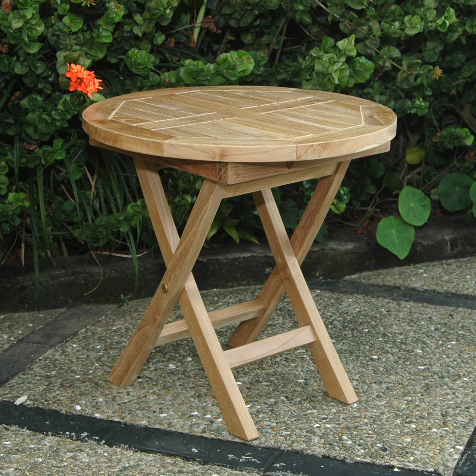Anderson Teak Bahama Folding Mini Outdoor Side Table
