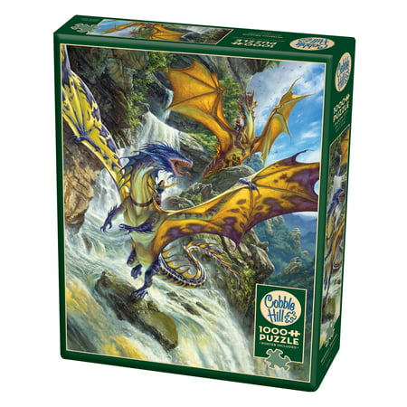 Cobble Hill: Waterfall Dragons 1000 Piece Jigsaw (Dragon 1000 Piece Jigsaw Puzzle)