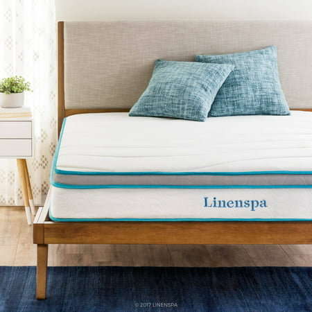 "Double Deluxe Mattress (Linenspa Spring and Memory Foam Hybrid Mattress, 8"", Multiple)"