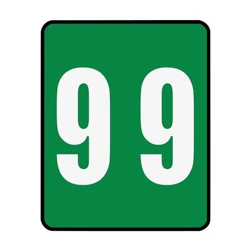 """67499 Smead 67499 Green AM100RN Color-Coded Numeric Label - 9 - 1.50"""" Width x 1.87"""" Length - 250 / Roll - 250/Roll - Green"""
