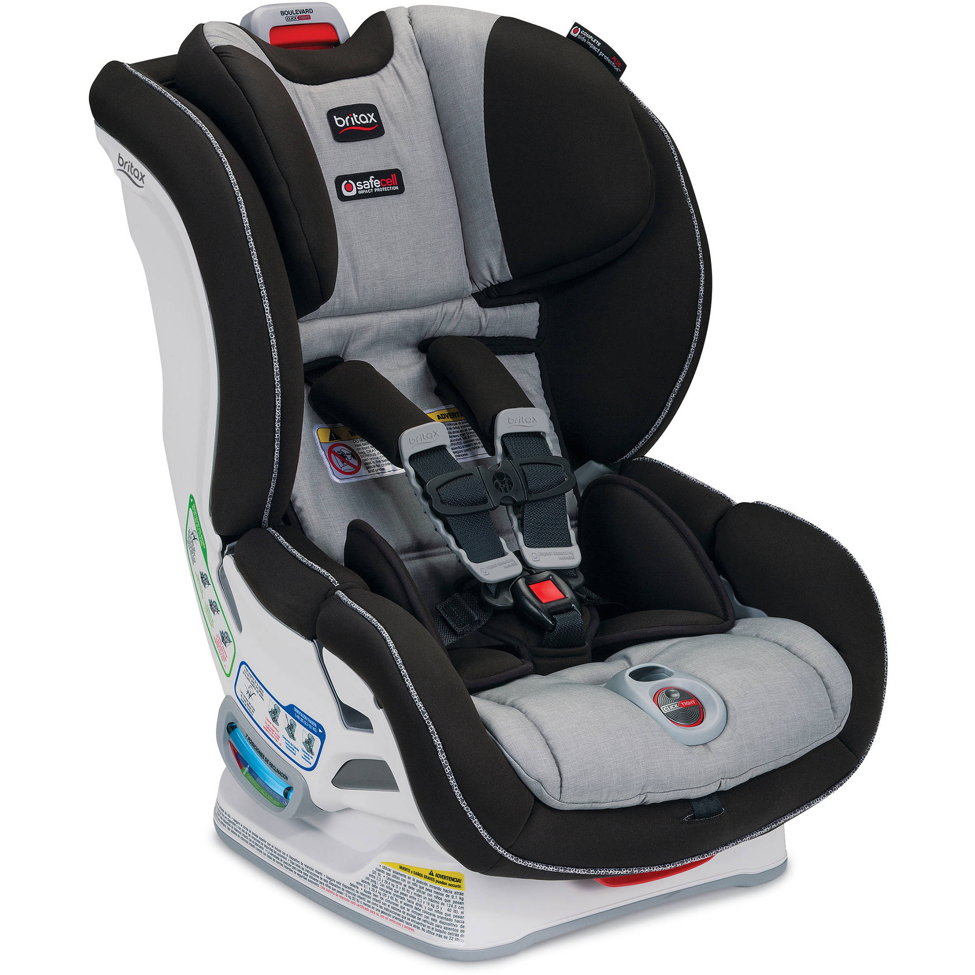 Image result for britax boulevard clicktight light grey