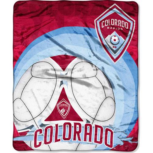 "MLS 50"" x 60"" Royal Plush Raschel Throw, Colorado Rapids"