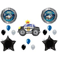 police car birthday balloons decoration supplies party cops law paw patrol blue lives