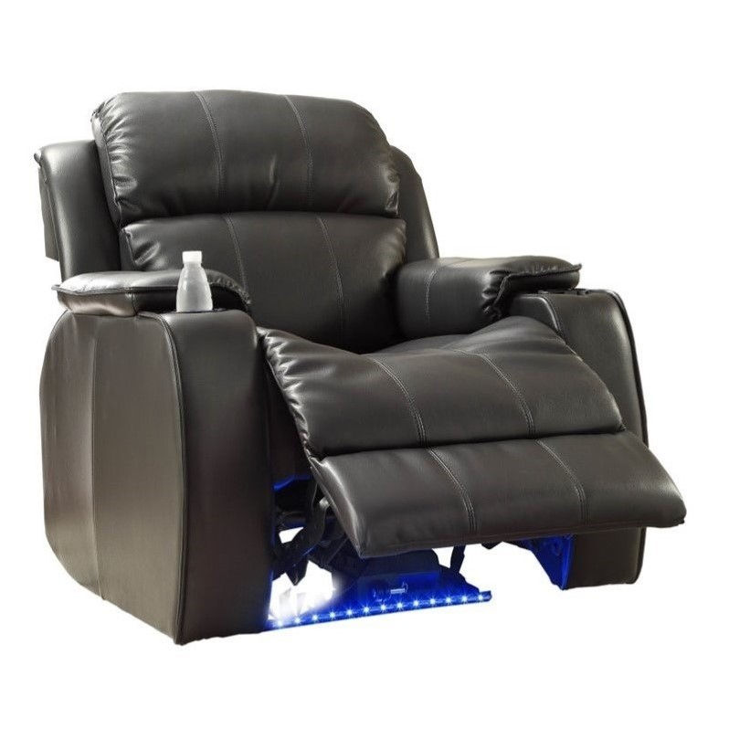 sc 1 st  Walmart & Paris Black Bonded Leather Recliner Club Chair - Walmart.com islam-shia.org