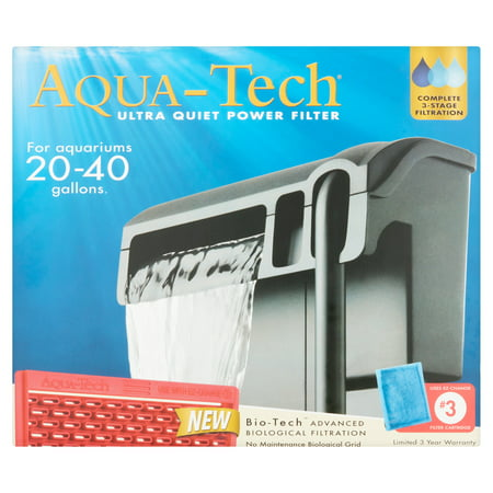 Aqua-Tech Ultra Quiet Power EZ-Change # 3 Filter, 20-40 Gallon Tank