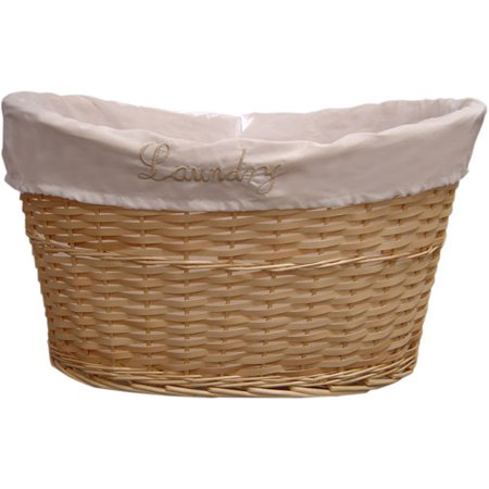 Wicker Laundry Basket Tan Walmart Com