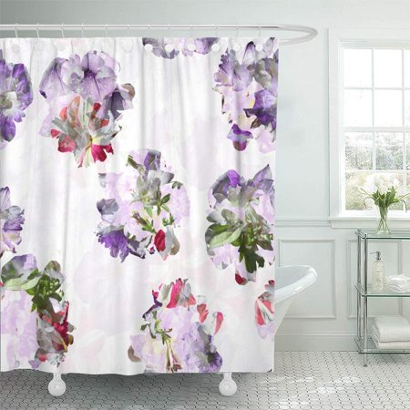 PKNMT Floral Flowers Blossom Amazing Collage For Natural Artistic Effect Overlay Layered Bathroom Shower Curtain 66x72 Inch