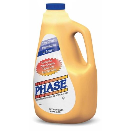 3 PACKS : Ventura Foods Phase Trans Fat Free Liquid Butter Alternative, 1 Gallon -- 3 per