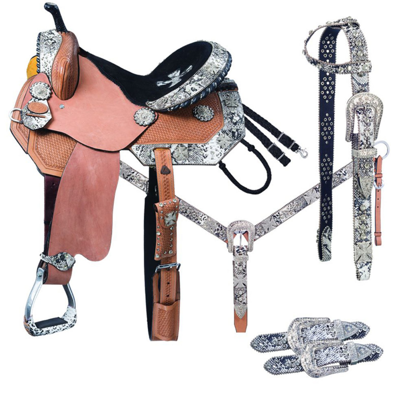 Greyson Barrel 5 Piece Horse Saddle Package