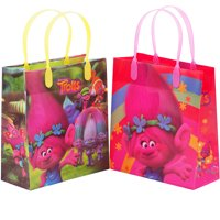 Trolls  12 Medium Party Favors Reusable Goodie Gift Bags 8""
