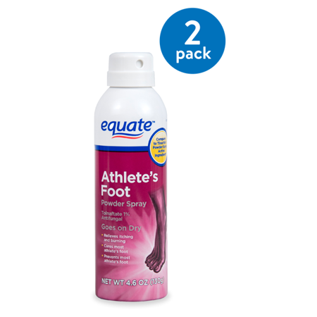 (2 Pack) Equate Athlete\'s Foot Powder Spray, 4.6 oz