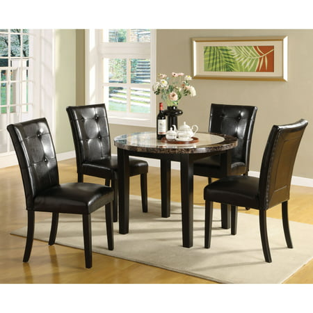 Furniture Of America Laelius 5 Piece Round Dining Table Amp Chairs