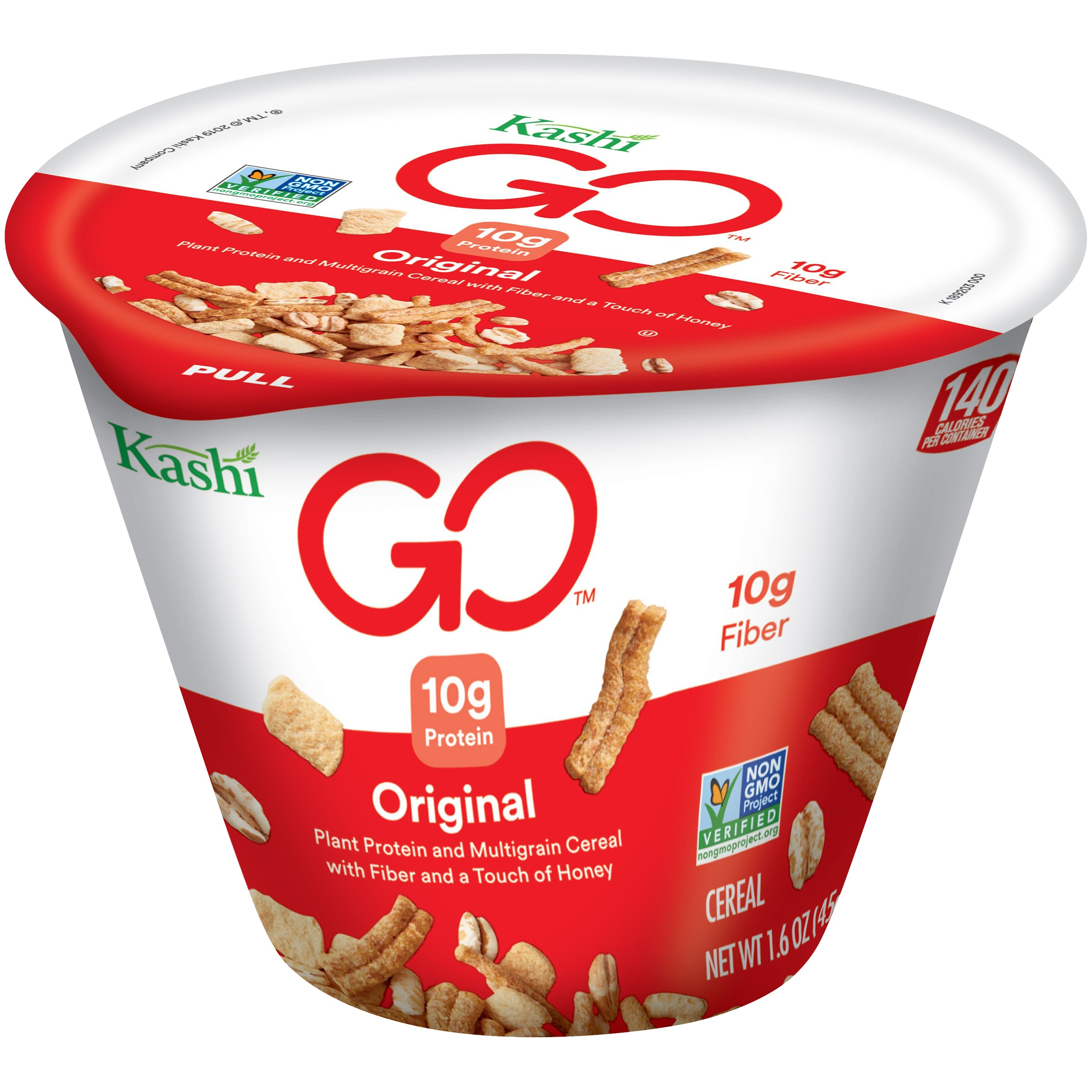 Kashi GOLEAN Cereal-in-a-Cup, Pack Of 12 Cold Cereal Cups