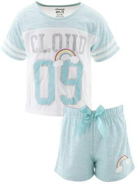 Sleep On It Girls Cloud Nine Blue Short Pajamas
