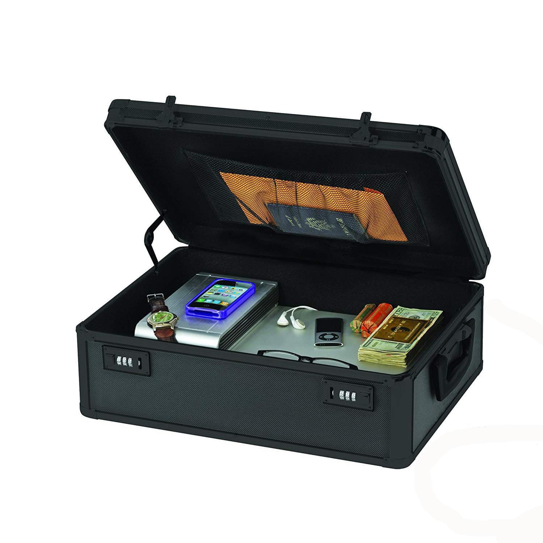 Ktaxon Wonderful Files Storage Password Organizer High Quality Black Waterproof and Rustproof Aluminum Alloy Storage Box