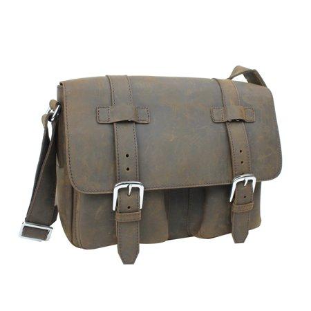 Vagabond Traveler - Vagabond Traveler Full Grain Leather Casual Messenger  Bag L73.DS - Walmart.com 87017bd3f56e5