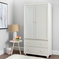South Shore Hopedale Storage Armoire With 2 Drawers, Multiple Finishes