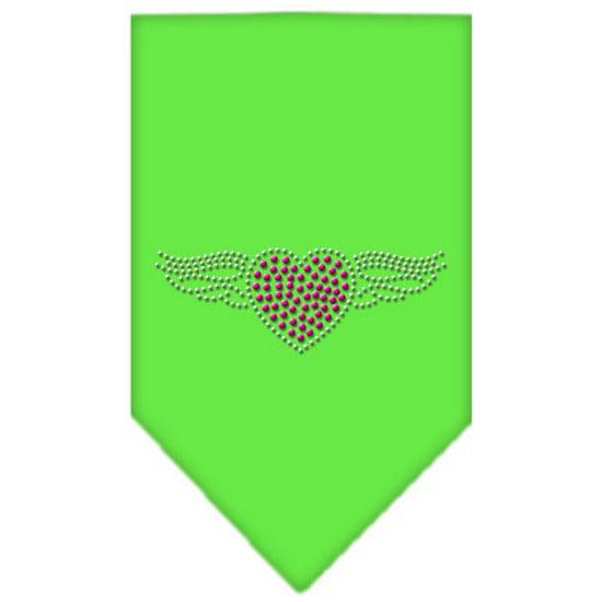 Aviator Rhinestone Bandana Lime Green Large