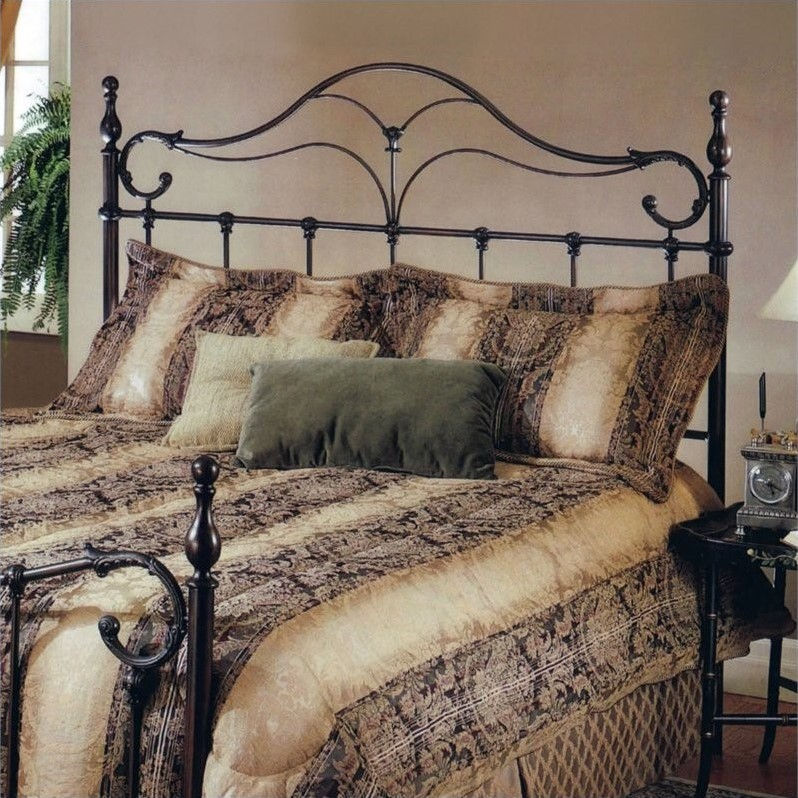 Hillsdale Bennett Metal Headboard in Antique Bronze-Full/Queen