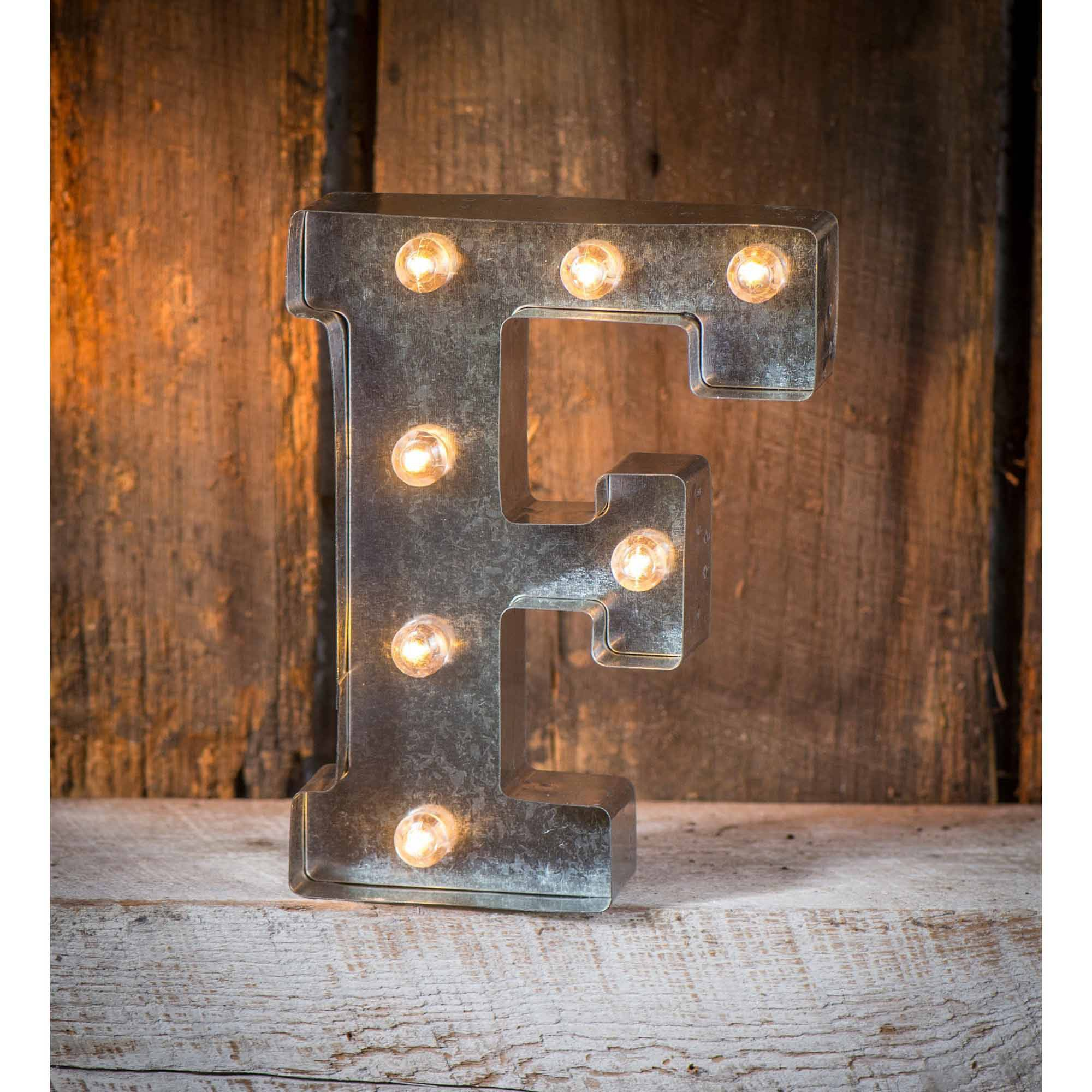 Light-Up Marquee Letter F