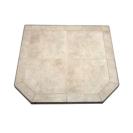 - Carmel Tile Single Cut Corner Stove Board, 48