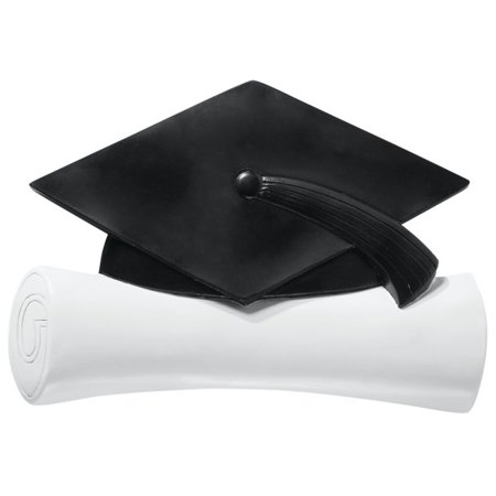 Graduation Cap and Scroll Layon Cake Topper