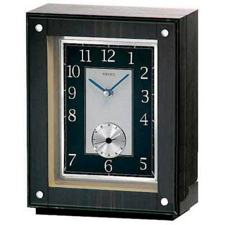 - Seiko Ebony Wooden Mantel Clock - QXG117BLH
