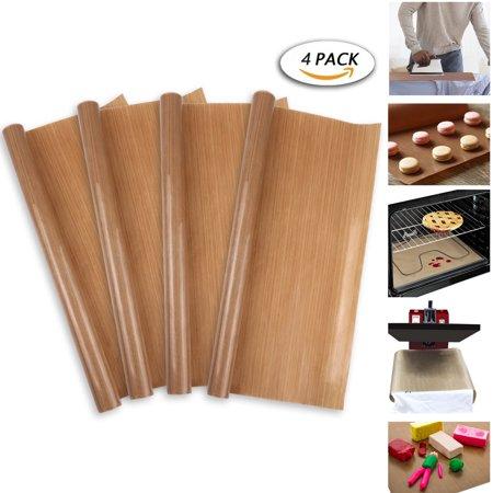 - 4 Pack PTFE Teflon Sheet for Heat Press Transfer Sheet 100% Non Stick 16 x 24