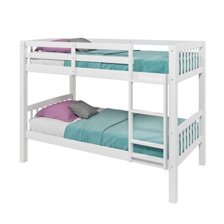 Hawthorn 2 Piece Kids Bedroom Set with Bunk Bed and Bookcase in White - image 2 de 9