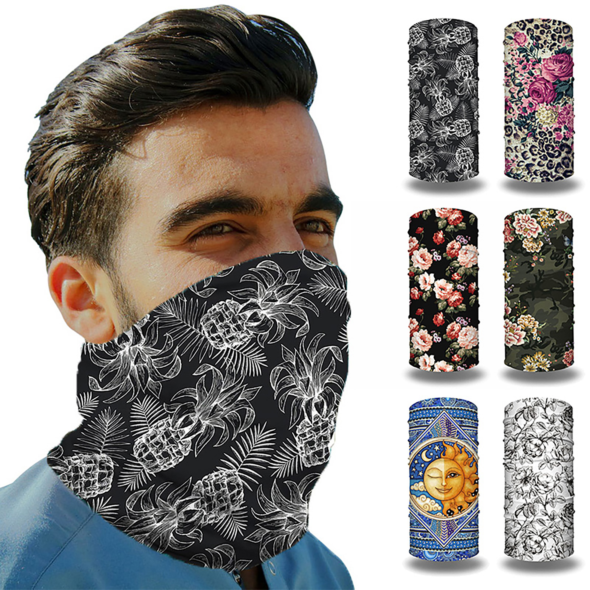 Children Christmas Face Bandana Reusable Cover Washable Cycling Balaclava Fashion Rewashable Breathable Re-Useable Bandana
