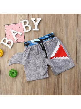 Kids Boys Swimming Trunks Swim Shorts Cartoon Shark Camo Beachwear Clothes