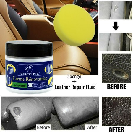Reconditioning Leather Cream+Sponge Set Vinyl Repair Kit Auto Car Seat Sofa  Coat