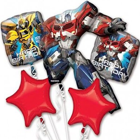 Transformers Character Authentic Licensed Theme Foil Balloon Bouquet (Transformer Pinata)